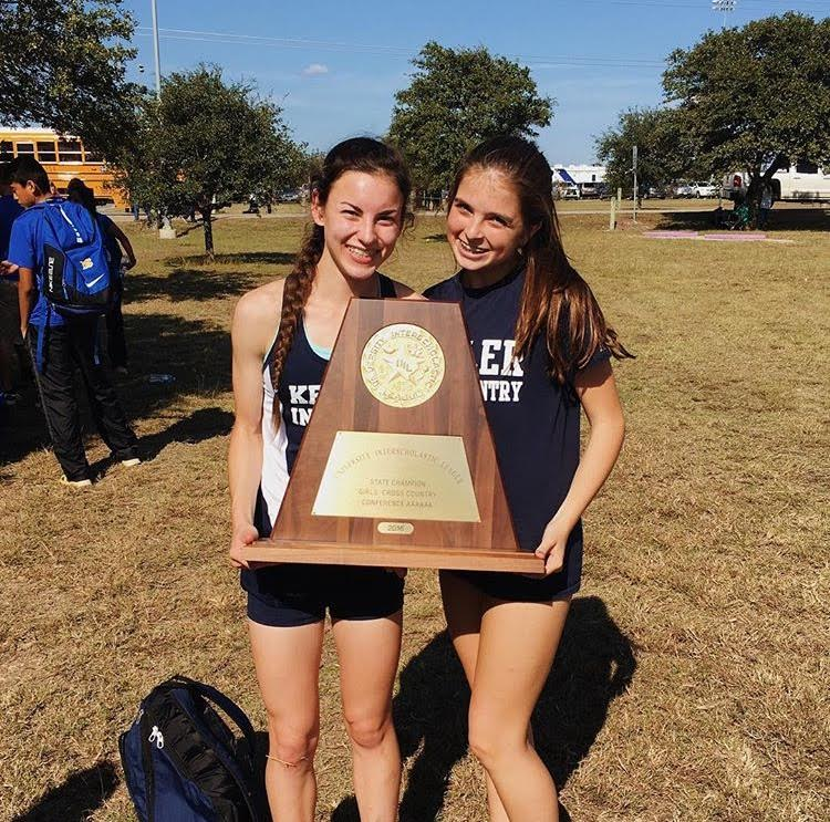 Katie and Teammate Abby Santoro at State Meet