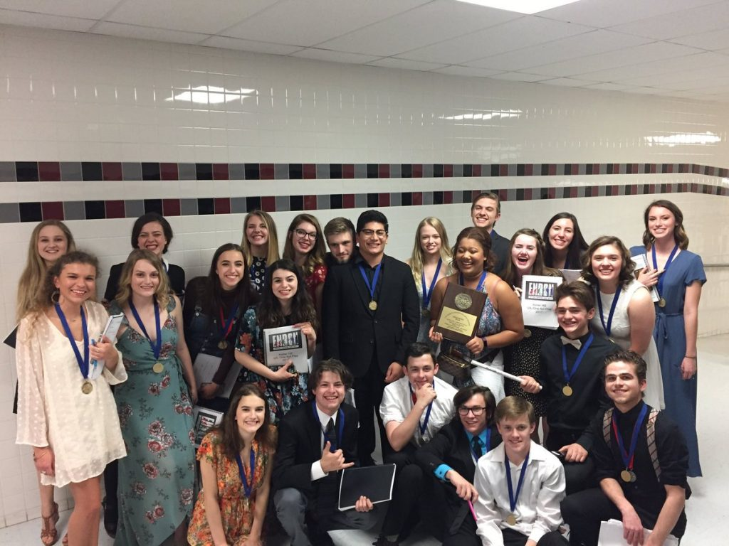 Photo+Credit%3A+Brian+Ketcham%0A%0AEnron+Company+after+winning+2nd+place+at+the+UIL+Area+Contest.+