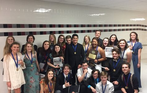 Photo Credit: Brian Ketcham  Enron Company after winning 2nd place at the UIL Area Contest.