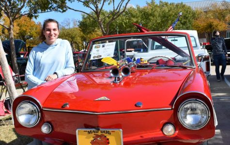 Keller Senior Participates in the Memorial Car Show